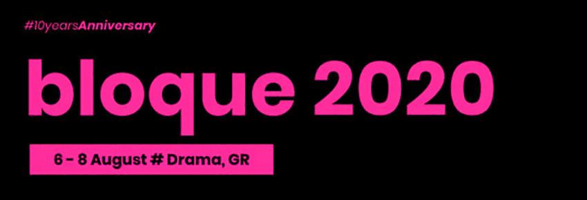 BLOQUE announces 2020 dates
